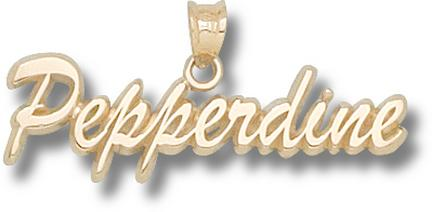 "Pepperdine Waves Script ""Pepperdine"" Pendant - 10KT Gold Jewelry"