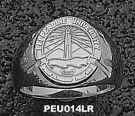 """Pepperdine Waves """"Seal"""" Ladies' Ring Size 6 1/2 - Sterling Silver Jewelry"""