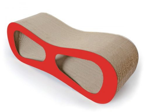 Pet Life CTS7RD Modiche Cat Scratcher Red - One Size