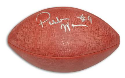 "Peter Warrick Autographed NFL Football with ""#9"" Inscription"