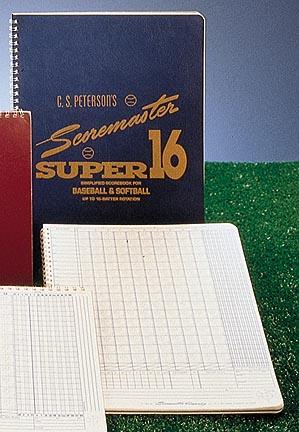 Peterson's Baseball Super Scoremaster 16 Scorebook from Gared - Set of 12 Scorebooks