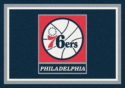 """Philadelphia 76ers 3' 10"""" x 5' 4"""" Team Spirit Area Rug"""