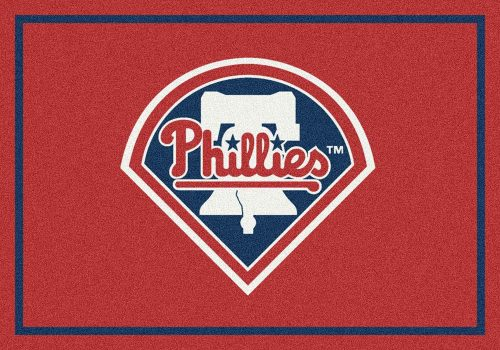 """Philadelphia Phillies 3'10"""" x 5'4"""" Team Spirit Area Rug"""