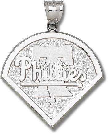 "Philadelphia Phillies Giant 1 3/4"" W x 1 3/4"" H ""Phillies Club Logo"" Pendant - Sterling Silver Jewelry"