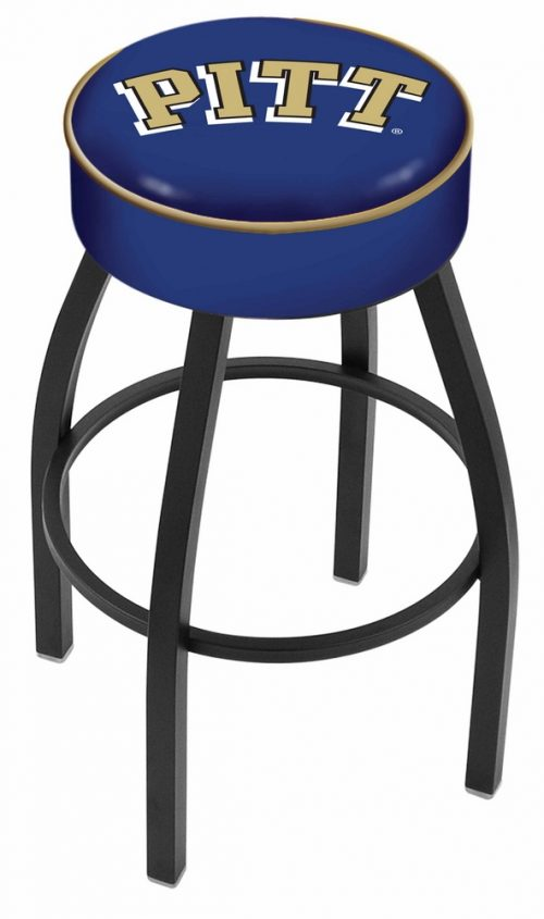 "Pittsburgh Panthers (L8B1) 25"" Tall Logo Bar Stool by Holland Bar Stool Company (with Single Ring Swivel Black Solid Welded Base)"