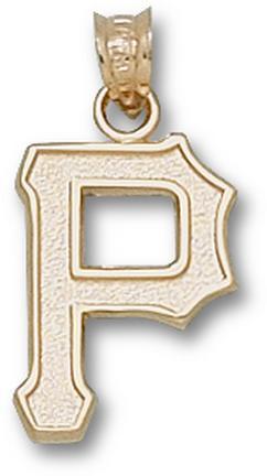 "Pittsburgh Pirates 5/8"" ""P"" Pendant - 10KT Gold Jewelry"