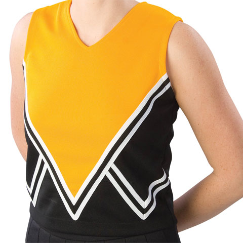 Pizzazz Performance Wear UT50 -BLKGOL-YXS UT50 Youth Intensity Uniform Shell - Black with Gold - Youth X-Small
