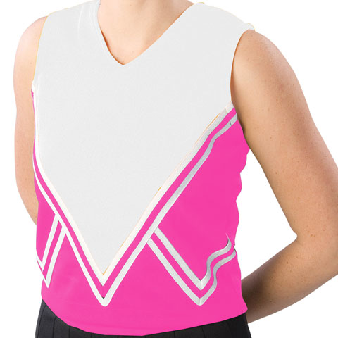 Pizzazz Performance Wear UT50 -HPKWHT-YL UT50 Youth Intensity Uniform Shell - Hot Pink with White - Youth Large