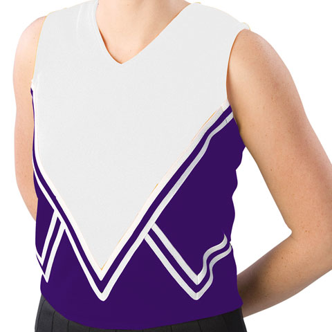 Pizzazz Performance Wear UT50 -PURWHT-YL UT50 Youth Intensity Uniform Shell - Purple with White - Youth Large