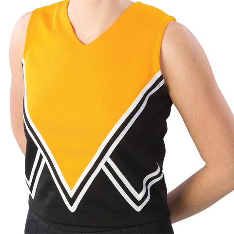Pizzazz Performance Wear UT55 -BLKGOL-AXL UT55 Adult Intensity Uniform Shell - Black with Gold - Adult X-Large