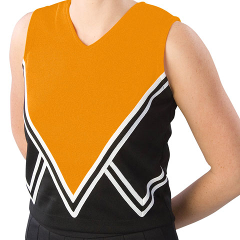 Pizzazz Performance Wear UT55 -BLKORA-AS UT55 Adult Intensity Uniform Shell - Black with Orange - Adult Small