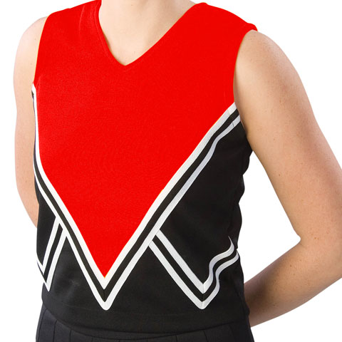 Pizzazz Performance Wear UT55 -BLKRED-AS UT55 Adult Intensity Uniform Shell - Black with Red - Adult Small