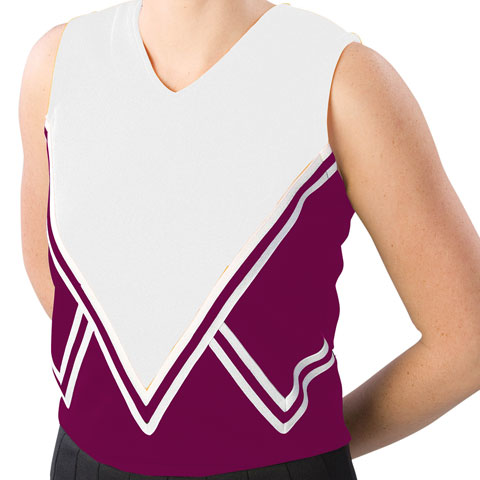 Pizzazz Performance Wear UT55 -MARWHT-AS UT55 Adult Intensity Uniform Shell - Maroon with White - Adult Small