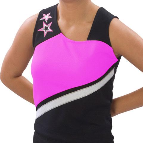 Pizzazz Performance Wear UT75 -BLKHPK-AXL UT75 Adult Supernova Uniform Shell - Black with Hot Pink - Adult X-Large
