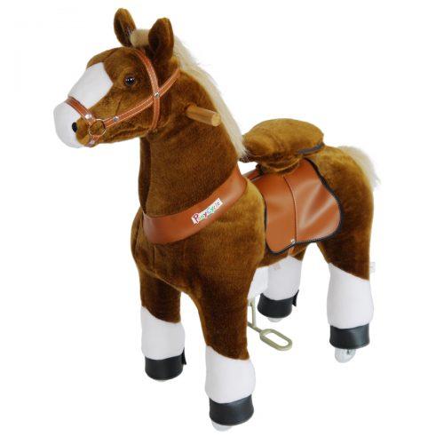 PonyCycle N3151 Riding Plush Horse hoof-Small Hoof-Small Brown