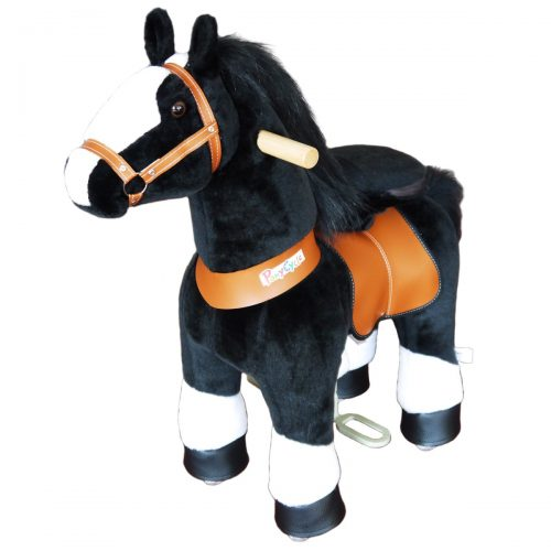 PonyCycle N3184 Horse with white Hoof-small Black