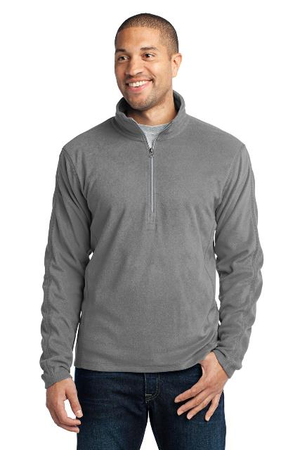 Port Authority F224 Microfleece 1 by 2-Zip Pullover Pearl Grey - Small