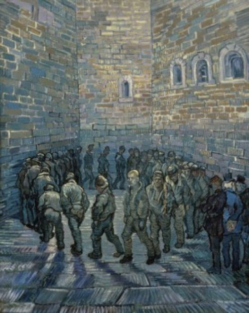 Posterazzi SAL261793 Prisoners Exercising After Dore 1890 Vincent Van Gogh 1853-1890 Dutch Pushkin Museum of Fine Arts Moscow - 18 x 24 in.