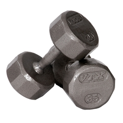 PowerSystems 56194 25 lbs VTX 12 Sided Cast Dumbbell - Single