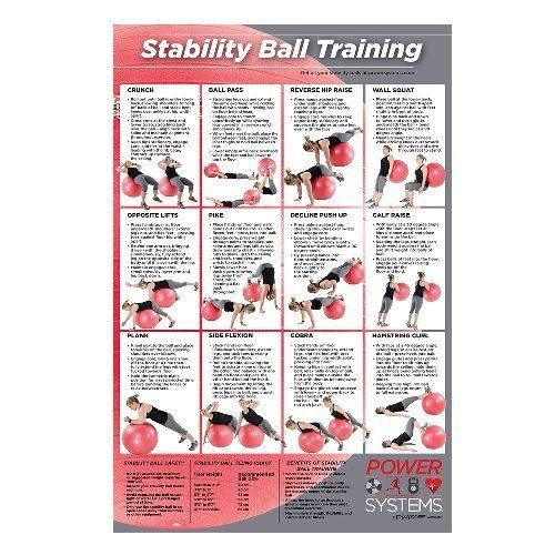 PowerSystems 93105 Stability Ball Training Poster