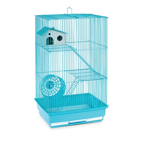 Prevue Pet Products SP2030G Prevue Hendryx Three Story Hamster & Gerbil Cage- Mint Green
