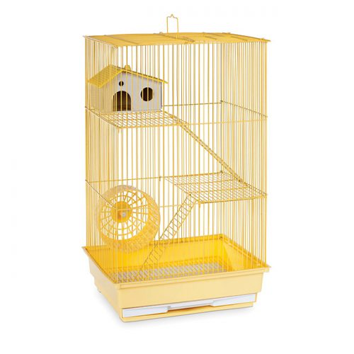 Prevue Pet Products SP2030Y Prevue Hendryx Three Story Hamster & Gerbil Cage- Yellow
