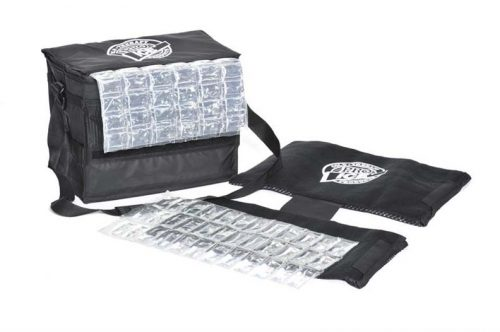 Pro Ice Professional Pitcher's Travel Kit (Includes Shoulder / Elbow Cold Therapy Wrap, Ice Pack Insert and Cooler Bag)