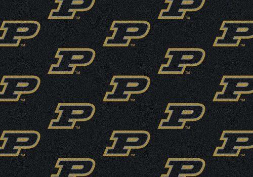 "Purdue Boilermakers 3' 10"" x 5' 4"" Team Repeat Area Rug"