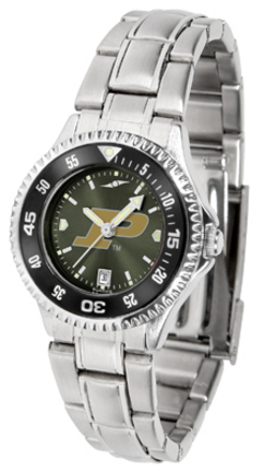 Purdue Boilermakers Competitor AnoChrome Ladies Watch with Steel Band and Colored Bezel
