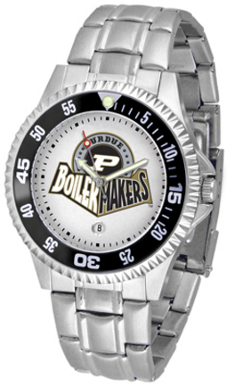 Purdue Boilermakers Competitor Watch with a Metal Band