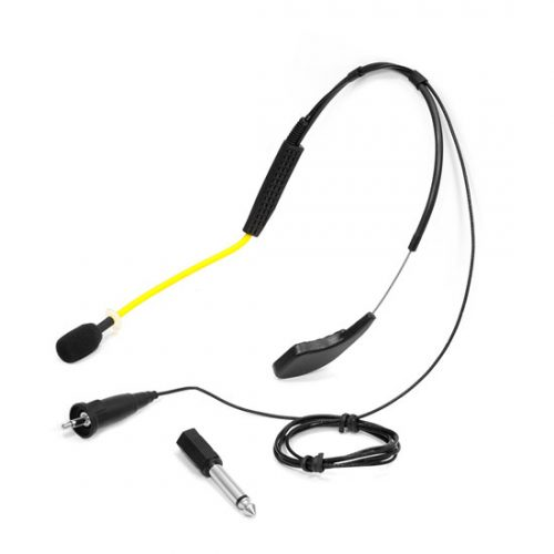 PyleSports PMKWR4 Flexible Waterproof Headset Microphone for Exercise & Fitness - Yellow Standard 3.5 mm Systems