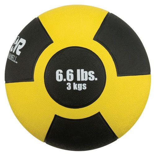 Reactor Rubber Medicine Ball 3kg Yellow