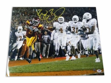 """Reggie Bush USC Trojans Autographed 16"""" x 20"""" """"Touchdown vs. Texas"""" Unframed Photograph"""