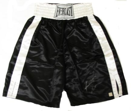 Riddick Bowe Autographed Everlast Boxing Trunks