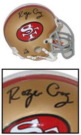 Roger Craig Autographed San Francisco 49ers Riddell Authentic Old Logo Mini Helmet