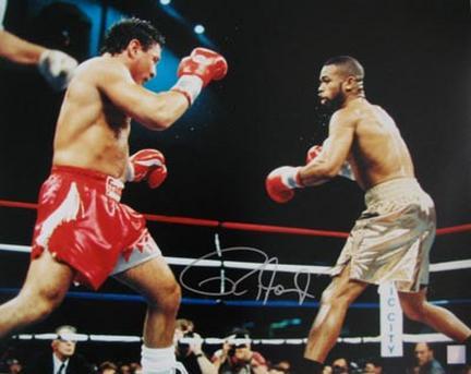 "Roy Jones Jr. Autographed ""vs. Vinny Paz"" 16"" x 20"" Photograph (Unframed)"