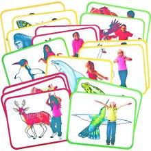 Roylco Inc. R-62010 Body Poetry Animal Action Cards