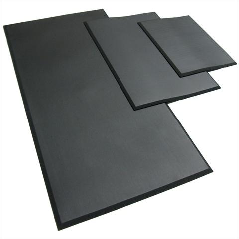 Rubber-Cal Comfort Cloud Foam Anti-Fatigue Rubber Mat - Black 24 x 18 x 0.38 in.