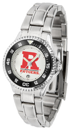 Rutgers Scarlet Knights Competitor Ladies Watch with Steel Band