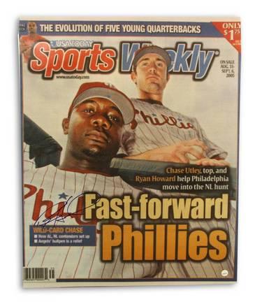 "Ryan Howard Philadelphia Phillies Autographed Sports Weekly 16"" x 20"" Unframed Photograph"