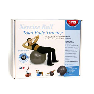 SPRI Xercise Ball 55 cm Stability Ball Training Kit with DVD