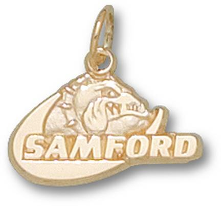 "Samford Bulldogs ""Samford Bulldog"" 3/8"" Charm - 10KT Gold Jewelry"
