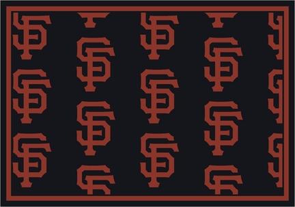 "San Francisco Giants 2' 1"" x 7' 8"" Team Repeat Area Rug Runner"