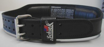Schiek Sports S-J2014S 4 in. Black Leather Jay Cutler Signature Belt-S