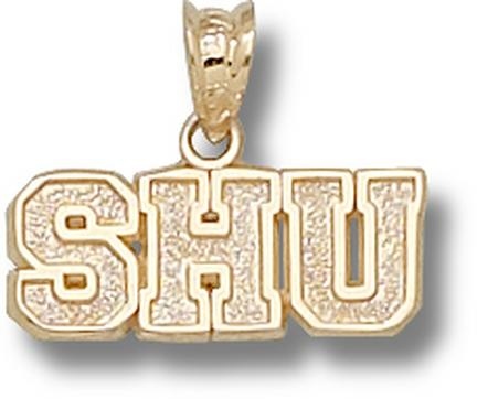 "Seton Hall Pirates ""SHU"" 1/4"" Pendant - 10KT Gold Jewelry"