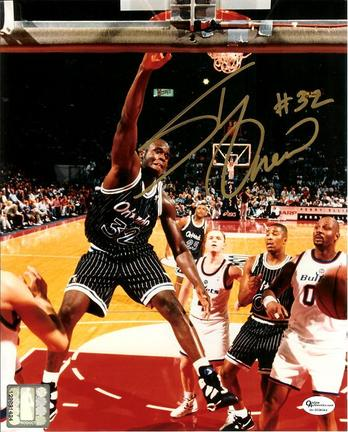 """Shaquille O'Neal Autographed Orlando Magic 8"""" x 10"""" Photograph (Unframed)"""