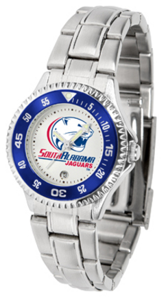 South Alabama Jaguars Competitor Ladies Watch with Steel Band