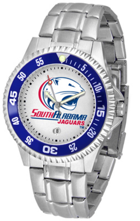 South Alabama Jaguars Competitor Watch with a Metal Band