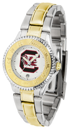 South Carolina Gamecocks Competitor Ladies Watch with Two-Tone Band