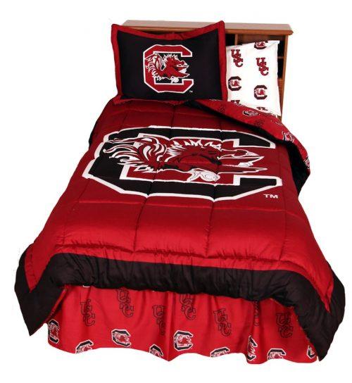 South Carolina Gamecocks Reversible Comforter Set (King)
